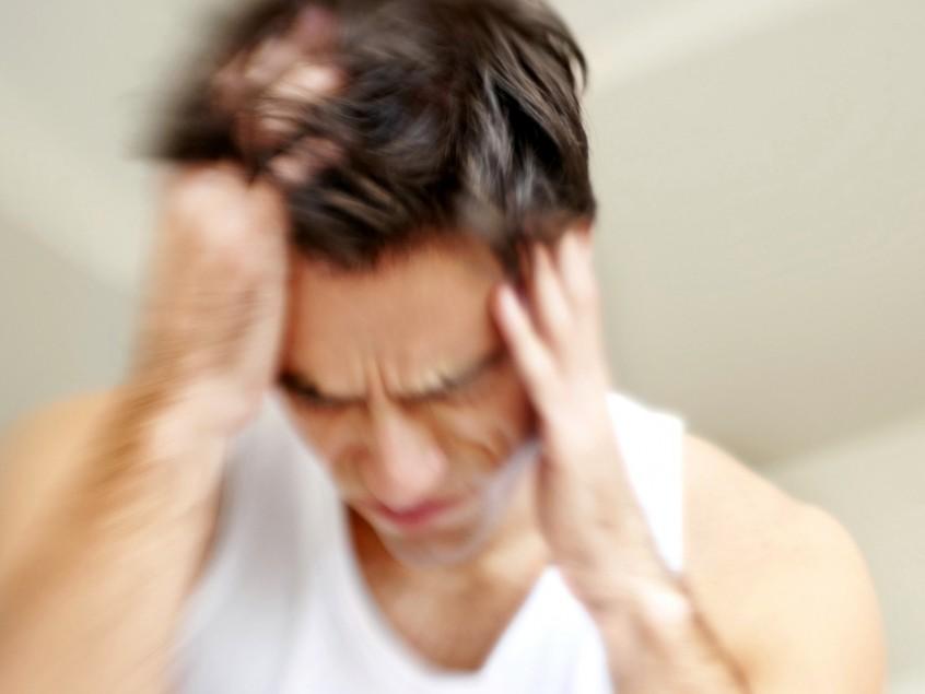 כאב ראש גבר תמונה