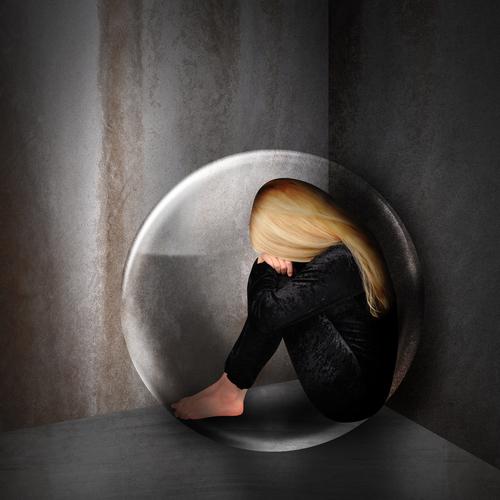 אישה בדיכאון